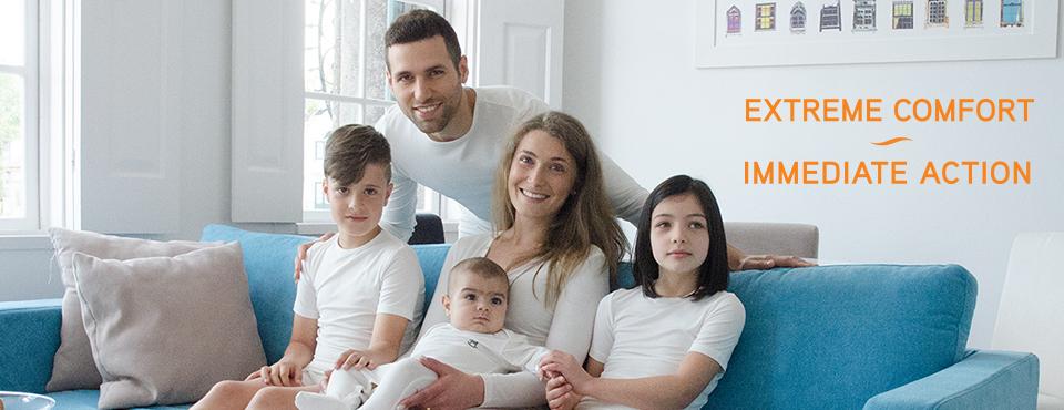vestuário skintoskin para toda a família